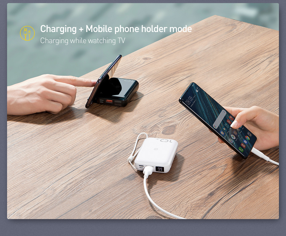 Baseus 10000mAh Qi Wireless Charger Power Bank for iPhone Samsung Huawei Powerbank PD Quick Charge 3.0 Portable External Battery 5