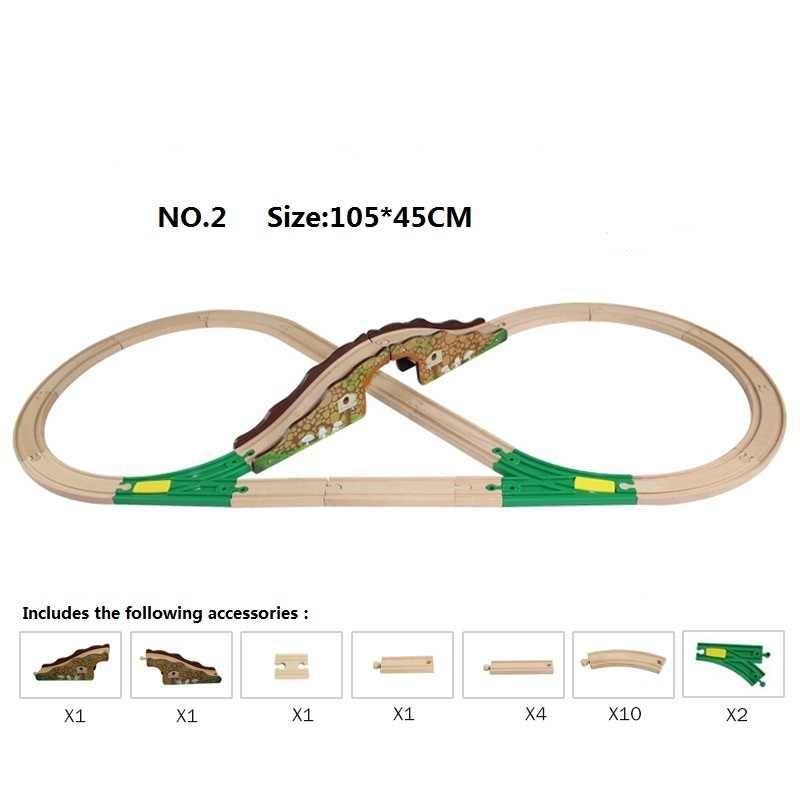 Паровозик Томас набор деревянная железная дорога 8 типов доступная деревянная железная дорога упаковка поезд игрушки Аксессуары для поезда трек игрушки