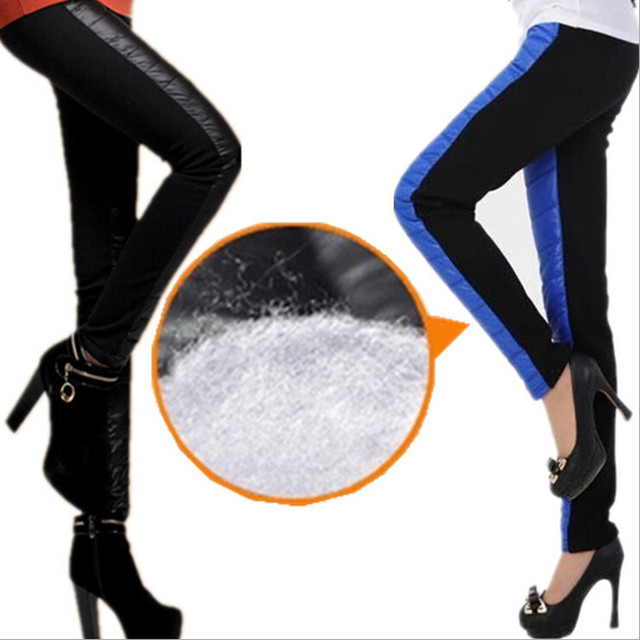 Active wear women Leggings 6 Candy Colors 2016 Winter Leggins Down Pants Women Warm Large Size Trousers Thick Thermal Velvet