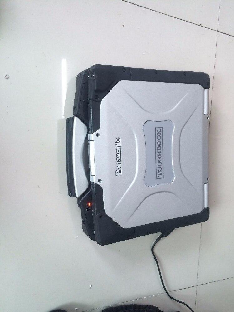 Deuxième ordinateur portable à la main toughbook cf30 cf-30 ram 4g auto diagnostic ordinateur 2 ans de garantie choisir hdd pour mb c3 c4 c5 bmw icom