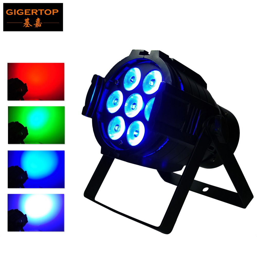 Freeshipping Mini led par cans 7 x 10W Led Effect Light 90V-240V Led Par36 Light 4IN1 RGBW Big Lens Led Par Can Aluminum Body цена
