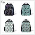THIKIN сумка через плечо для детей  Мини рюкзак для детского сада  черный рюкзак для девочек с принтом Лабрадора  школьные сумки для малышей  ма...