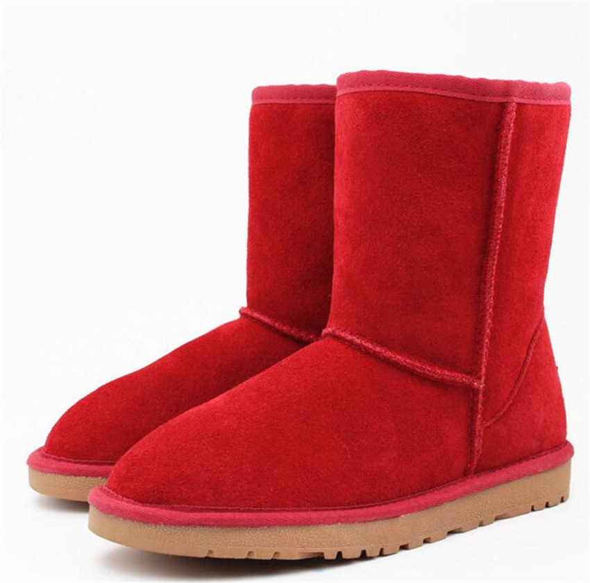 Women Snow Boots Fashion High Quality Genuine Suede Leather Australia Classic Warm Winter shoes woman only true love high quality women boots winter snow boots