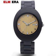 ELMERA wooden watches 2018 men luxury watch male big watches wood custom wristwatch gifts black relogios masculino(China)