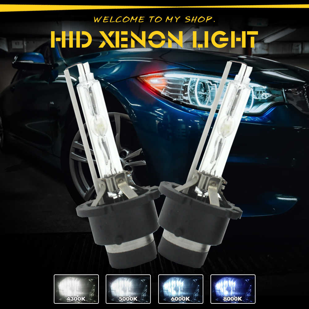 D2S D1S HID Xenon headlight Bulb High Brightness Bi-xenon Projector Lens Replacement lamp with metal holder 4300K 6000K 8000K