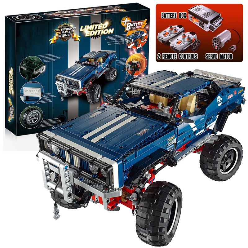Lepin 20011 Technic 4x4 Crawler Exclusive Edition building bricks blocks Pickup Toys for children boys Game  Model RC Car Gift
