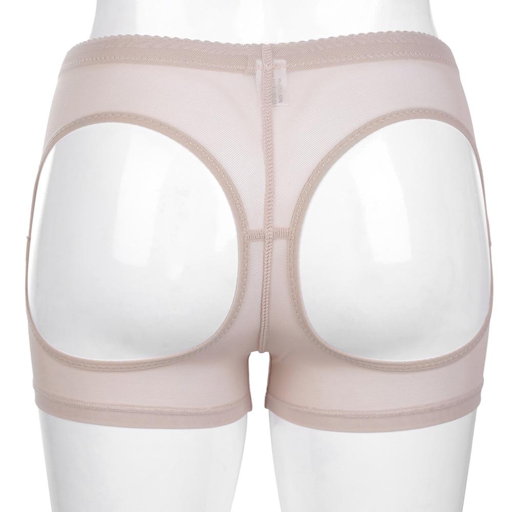 Women's Intimates Jlong Mid Waist Butt Abundant Body Shaper Underwear Hips Lift Control Panties Floral Lace Firm Women Shapers Plus Size