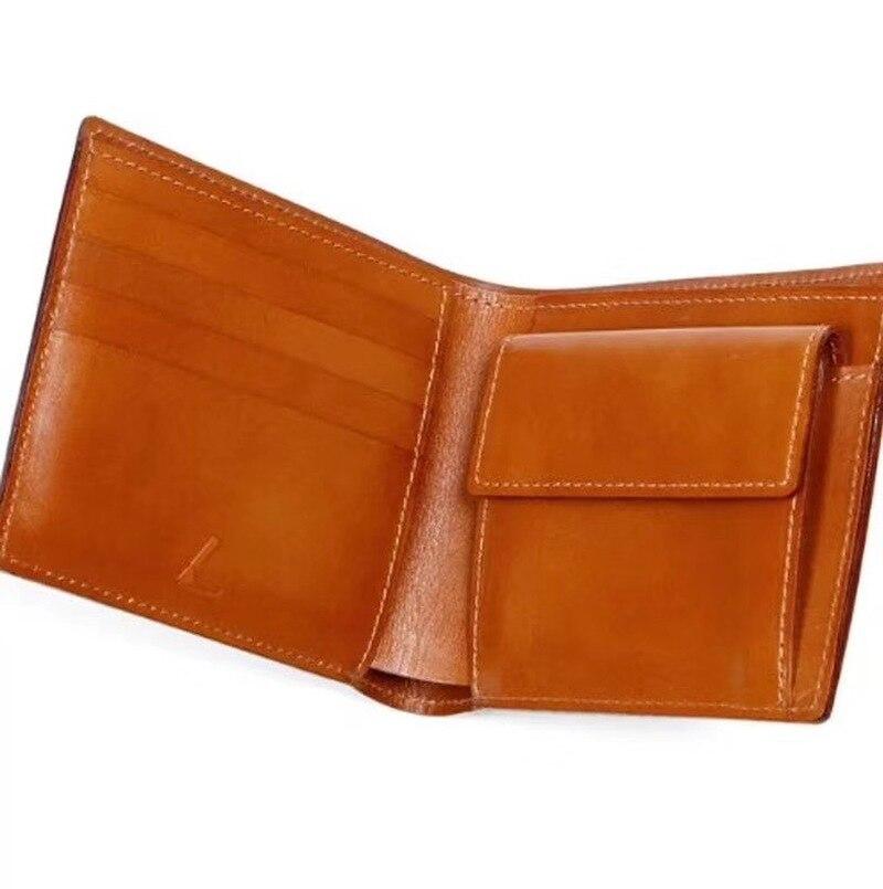 La règle de lame en acier du japon meurt le portefeuille en cuir de à deux volets avec l'étui en cuir - 2