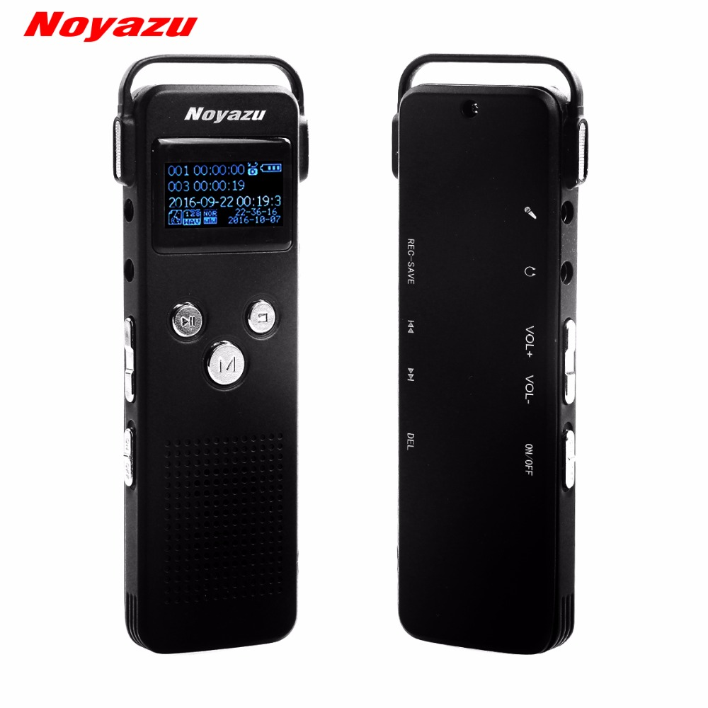 NOYAZU A20 16G Professional Noise Reduction Sound Recorder With Telephone Recording Dictaphone Voice Activated Recorder Gift