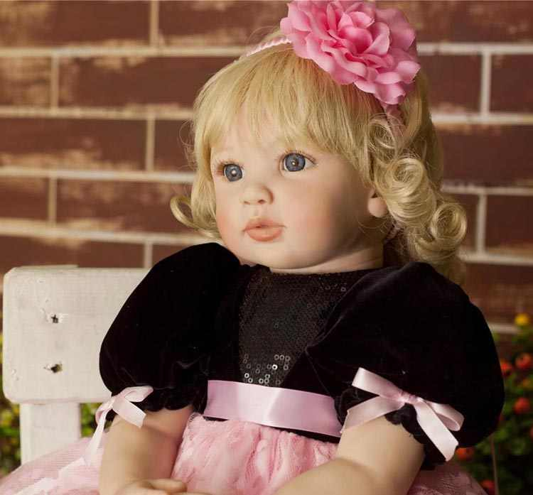 Новинка 60 см ручной работы Виниловые силиконовые reborn baby doll игрушка новорожденная девочка малыши мода Bebes Reborn куклы для принцессы ребенка