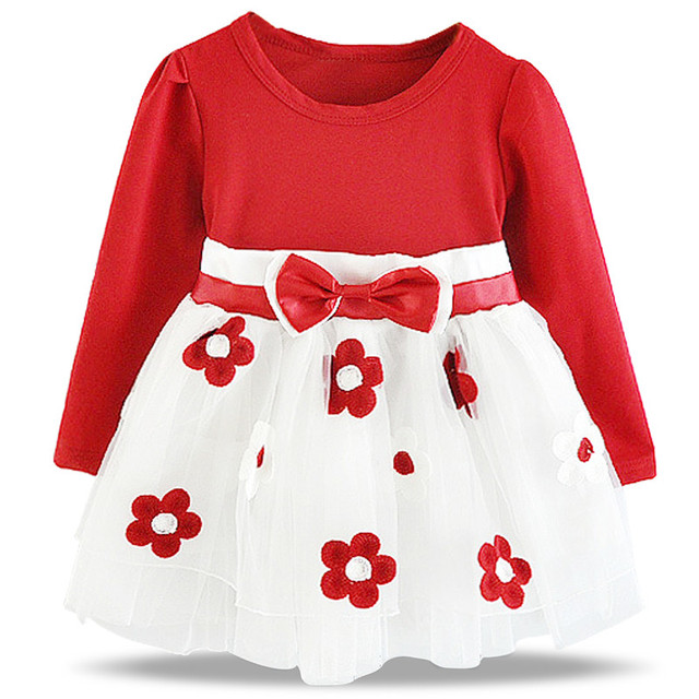 dc24e297610a9 US $6.18 38% OFF|Baby First Christmas Dresses For Girls 1 Year Baby Girl  Birthday Outfits Red Festival Costume Infant Baby Girl Tutu Dress-in  Dresses ...