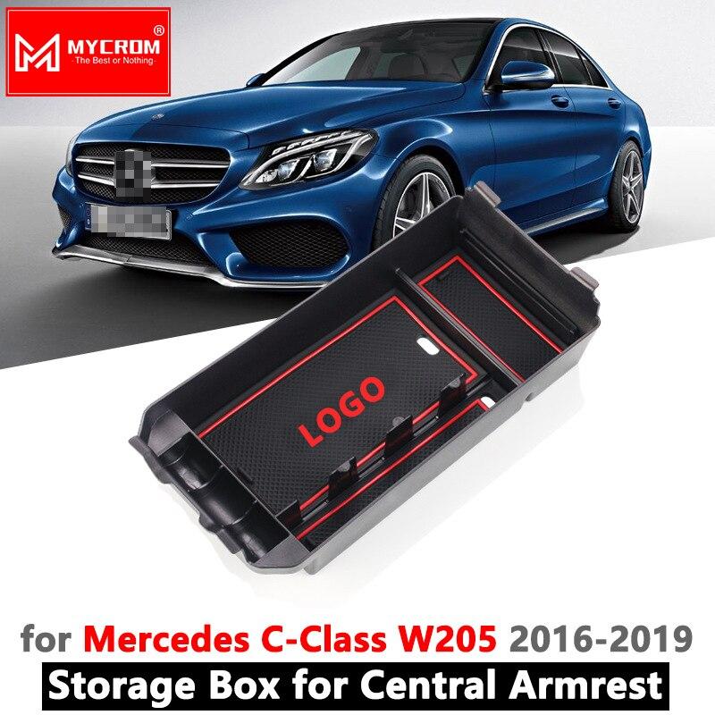 Apoio de braço Caixa De Armazenamento para Mercedes Benz Classe C-W205 C180 C200 C300 C400 C43 C220 C250 Estate Coupe C classe Organizar Acessórios