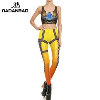 NADANBAO Brand New Women leggings Super HERO Tracer Leggins Printed leggins Woman Clothings 4