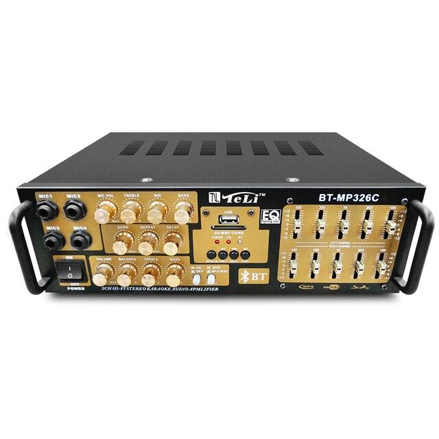 220 V 300 Wát + 300 Wát BT-MP326C-Channel Stereo Kỹ Thuật Số ECHO Mixer Nhà Karaoke Khuếch Đại Âm Thanh Equalizer