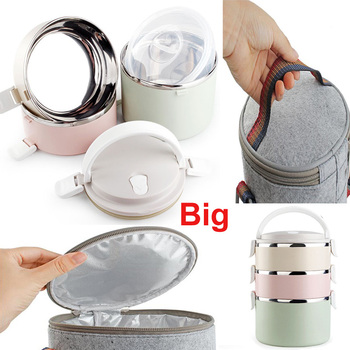 Modern Stainless Steel Bento Lunch Box for Kids Thermal Food Container Food Box Lunchbox Portable