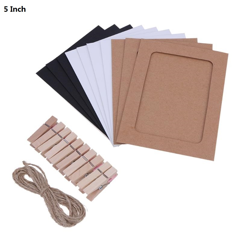 Wall Photo Frames with 10 Clips and Rope 3