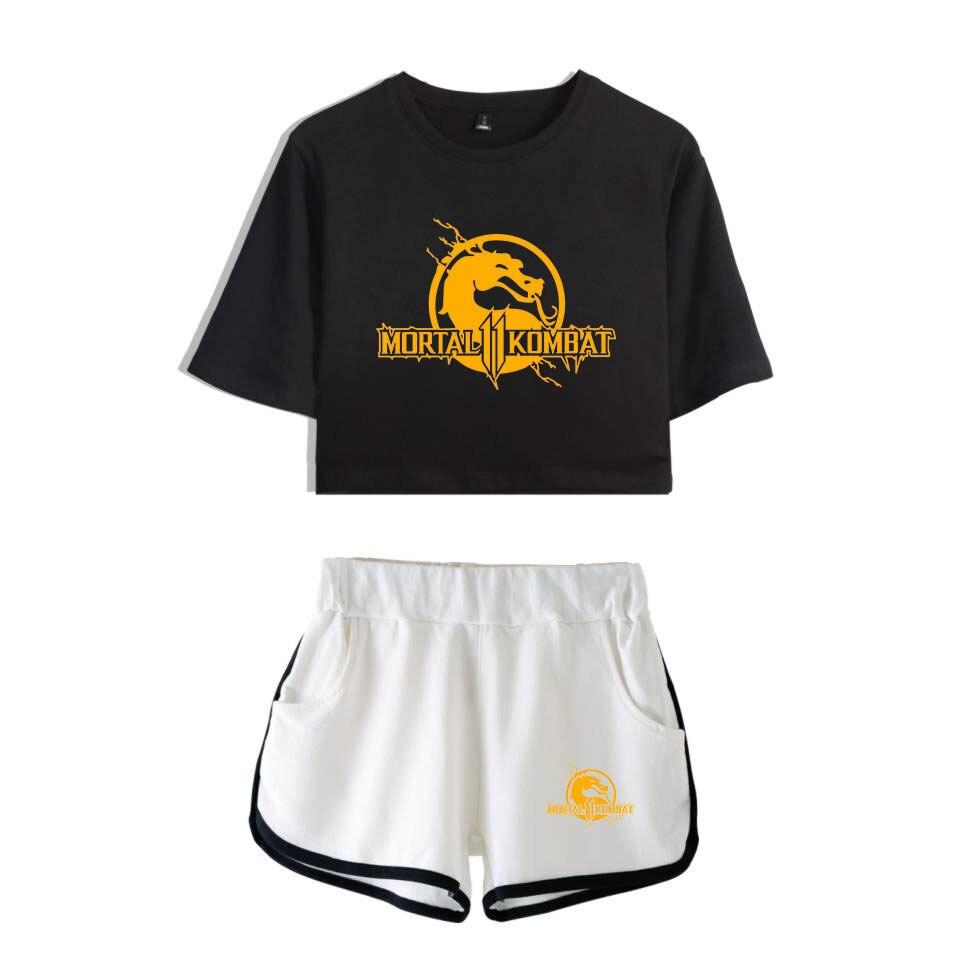 2019 Mortal Kombat 11 Shorts Women Casual Super Shorts Outerwear Contrast Summer Soft Elastic Waist Shorts