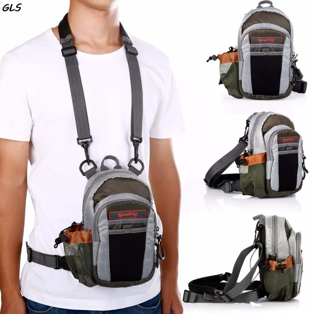 Best Price Fly Fishing Bag Fishing Chest Pack Fly Bag Portable Outdoor Fly Fishing Tackle Bags Multiple Waist Bags