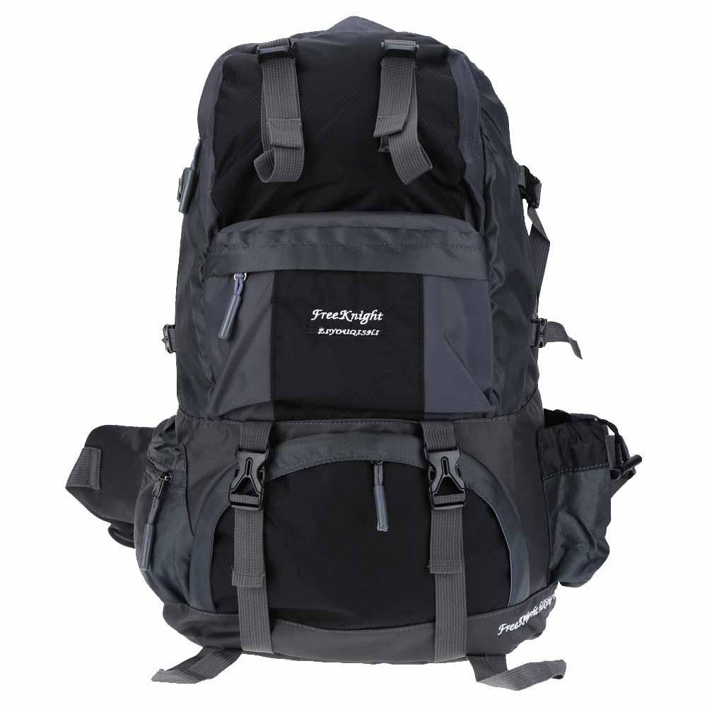 Free knight 50L Outdoor Backpack Hiking Bag Camping Travel Waterproof Pack Mountaineering black free knight hiking backpack 50l waterproof sports bag multifunctional outdoor bags camping hunting travel treck mochila backpack