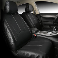 Car Seat Leather Covers compatible airbag Universal Fit Front Rear Seat Full Cover Interior Accessories For Kia Fiat Honda Lada