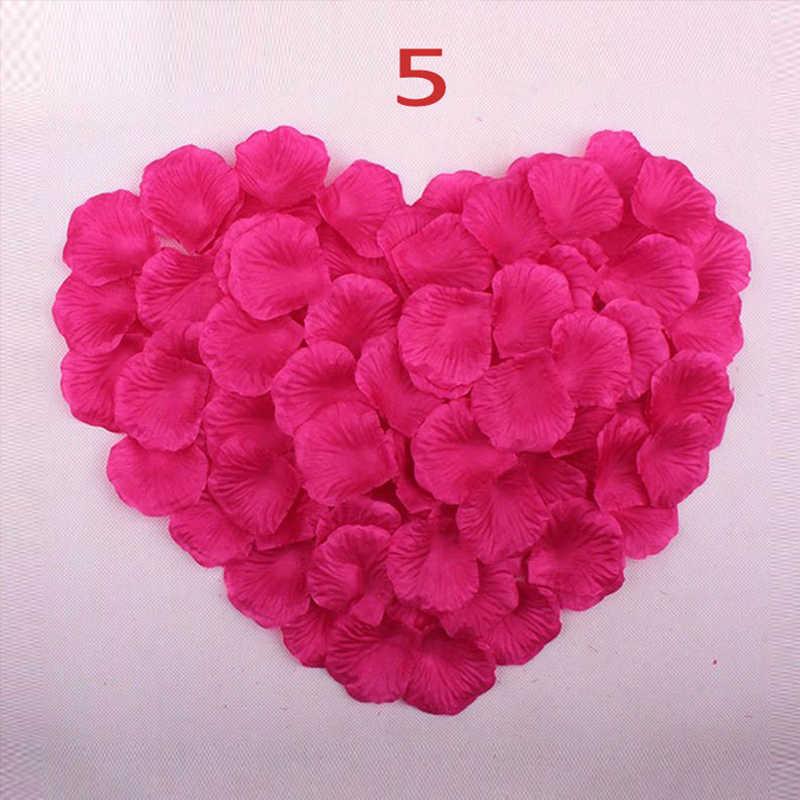 新到着 2018 安いシルクフラワーの花びら 1000 ピース/ロット結婚式のアクセサリー結婚結婚式バラの花びらロマンチックな花