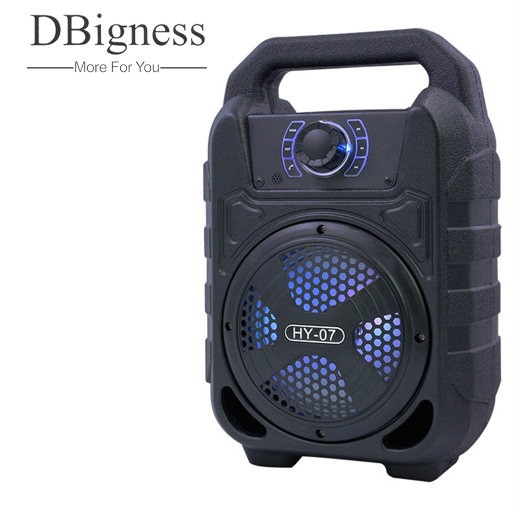 Dbigness Portable Bluetooth Speaker Wireless Speakers Sound System 3D Stereo Music Support AUX FM TF card USB Player Microphone goldbulous portable wireless bluetooth speaker 20w hifi bass pa speakers high quality home theater music player support tf aux