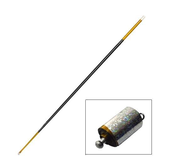 Envío Gratis metal acero apareciendo bastones 1.4 m (oro color negro)-Trucos de magia, truco, ilusión, accesorios, diversión, clásico magia