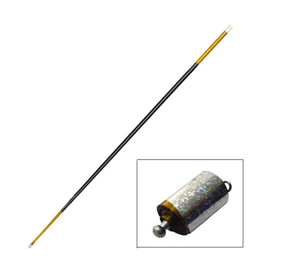 Free shipping Metal Steel Appearing Canes 1 4M Gold Black color Magic Tricks gimmick Illusion props