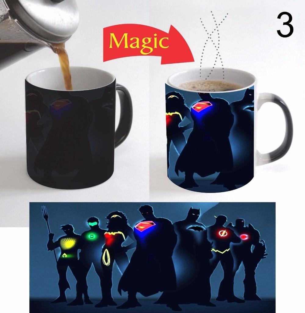 superman batman the flash mugs coffee mugen tea mugs heat sensitive heat reactive Magic mugen ceramic