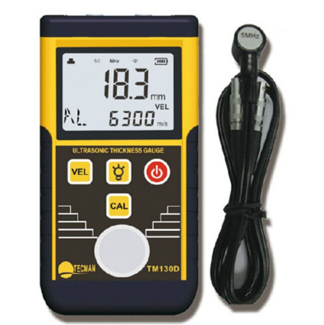 Ultrasonic Thickness Gauge Sound Velocity Measuring Range 1.2~220mm For Steel Plate Copper Plate Glass PVC Pipe Thickness TM130D  цены