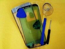 Yedek LCD Dokunmatik Ekran Ön Cam Dış Lens Samsung S6 kenar G925 SM G925F + Yapıştırıcı araçları