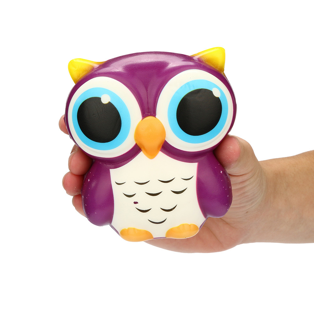 Squeeze toy Adorable Owl Squishy Slow Rising Cartoon Doll Cream Scented Stress Reliever Toy Gifts 15# dropship цены онлайн