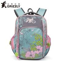 GRIZZLY 2017 NEW Russia Kids Backpack Cute Cartoon School Bags Orthopedic Waterproof Children Primary School For
