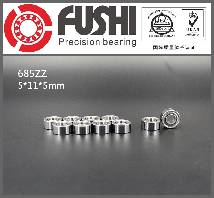 685ZZ Bearing ABEC-5 10PCS 5x11x5 mm Miniature 685 ZZ Ball Bearings 618/5ZZ EMQ Z3V3 Quality gcr15 6326 zz or 6326 2rs 130x280x58mm high precision deep groove ball bearings abec 1 p0