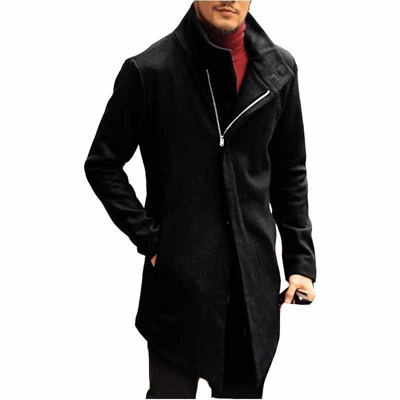 Moomphya Длинные ветровка мужские куртки зима молния Тренч для мужчин верхняя одежда chaqueta hombre куртка уличная veste homme