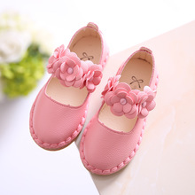 2018Autumn NEW children's leather shoes Girl flowers Princess Shoes Spring Autumn Leisure shoes Girls Dance Wedding Party Shoes
