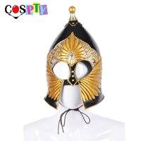 Cospty Medieval Men Cosplay Armet War Warrior Costume Accessories Soldier Roman Helmet