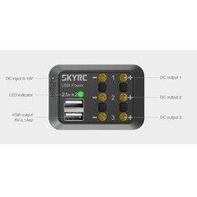 SKYRC DC zasilania dystrybutorem wielu wyjść 10A XT60 wtyczki bananowe wtyczka 5 V 2.1A USB