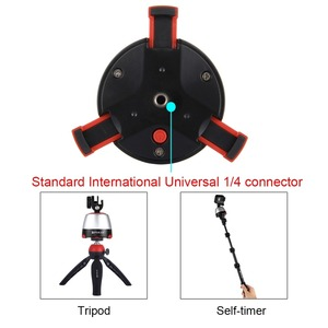 Image 3 - PULUZ Electronic Tripod 360 Degree Rotating Panoramic Tripod Head w/h Remote Controller For GoPro Iphone Smartphone DSLR Cameras