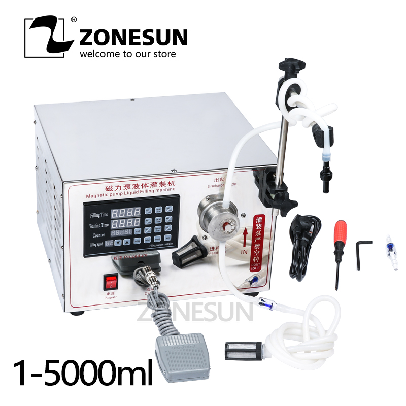 ZONESUN 2ml to unlimited filling machine Magnetic Pump Micro-computer Accurate Automatic Liquid Filling Machine yason 5ml to unlimited magnetic pump micro computer liquid filling machine
