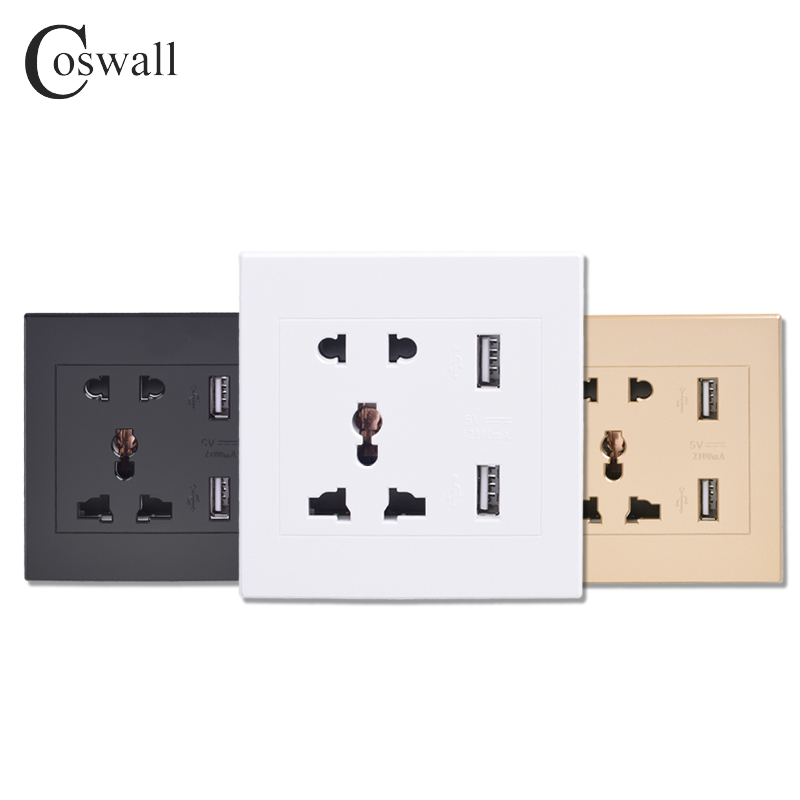 coswall-universal-standard-21a-usb-wall-socket-home-wall-charger-2-ports-usb-outlet-power-charger-for-phone-white-black-gold