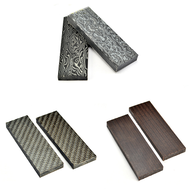 2pcs 160x50x10mm Damascus Canvas texture Micarta Template Board Sheet For DIY Knife handle Craft Supplies black micarta