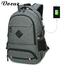 2017 Anti-Theft USB зарядки мужчины 18 дюймов ноутбук рюкзак женщины рюкзак Mochila школа рюкзак сумка повседневная сумка для ноутбука