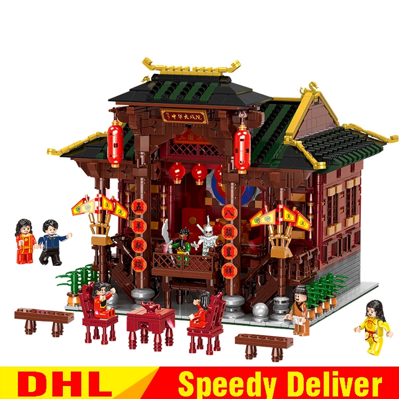 XINGBAO 01020 Chinese Style Building The Chinese Theater Set Building Blocks Bricks Toys compare LPing building Lepinges toysXINGBAO 01020 Chinese Style Building The Chinese Theater Set Building Blocks Bricks Toys compare LPing building Lepinges toys