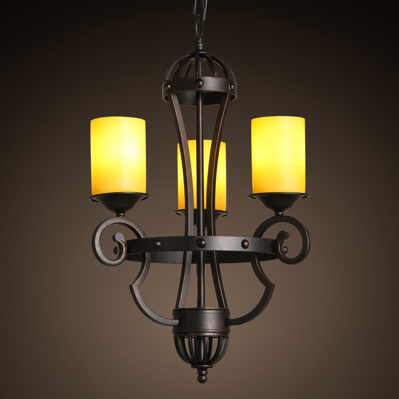 American country Pendant Lights vintage restaurant dining room lamp European classical garden iron candle three antique LU818368 a1 master bedroom living room lamp crystal pendant lights dining room lamp european style dual use fashion pendant lamps