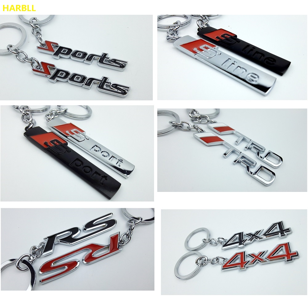 New Keyring Keychain Alloy Key Ring For Ford Benz Toyota TRD AUDI S line S sport