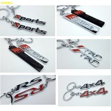 New Keyring Keychain Alloy Key Ring For Ford Benz Toyota TRD AUDI S-line S-sport 4×4 4WD RS LADA GRANTA SPORT