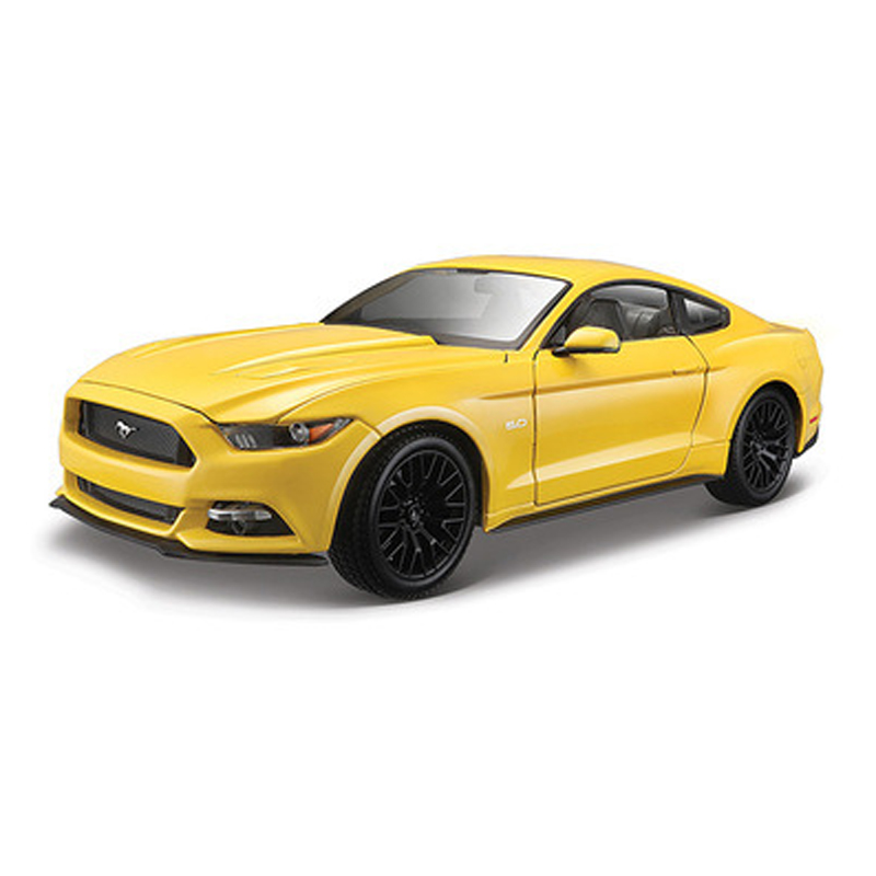 1/18 Scale 4 Colors 2015 Ford Mustang Alloy Diecast Car Model Toys High Quality Kids  Gifts Toys Collections maisto jeep wrangler rubicon fire engine 1 18 scale alloy model metal diecast car toys high quality collection kids toys gift