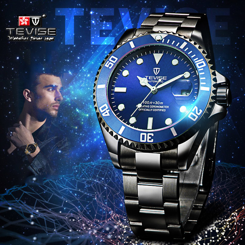 Hot Sales TEVISE Automatic Mechanical Watches Men Watch Waterproof Sport Wristwatch Male Submariner Clock Relogio Masculino free drop shipping 2017 newest europe hot sales fashion brand gt watch high quality men women gifts silicone sports wristwatch