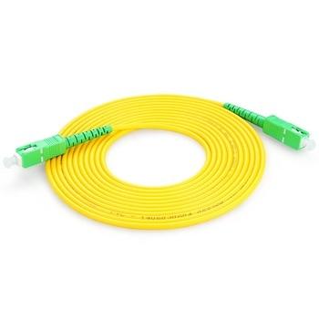 10PCS/bag SC APC Simplex mode fiber optic patch cord Cable  3.0mm FTTH  LSZH Fiber Optic Patch Cord 1